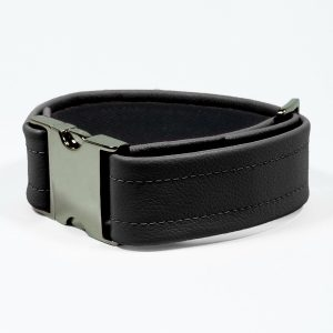 Bicep Strap – Standard Leather – Black - Gun Metal Black Fittings