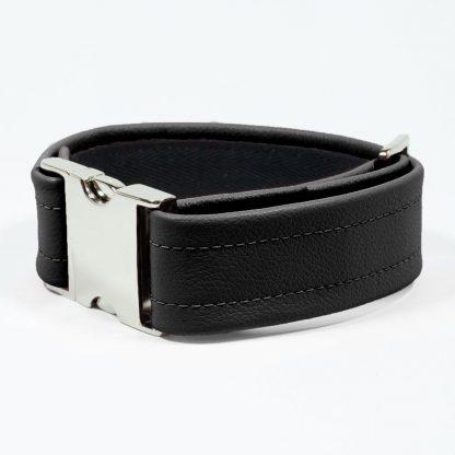 Bicep Strap – Standard Leather – Black - Silver Metal Fittings