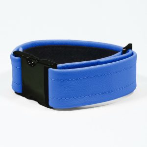 Bicep Strap – Standard Leather – Blue - Black Plastic Fittings