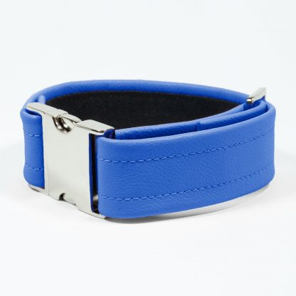 Bicep Strap – Standard Leather – Blue - Silver Metal Fittings