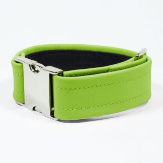 Bicep Strap – Standard Leather – Green - Silver Metal Fittings