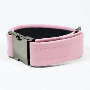 Bicep Strap – Standard Leather – Pink - Gun Metal Black Fittings