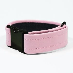 Bicep Strap – Standard Leather – Pink - Black Plastic Fittings