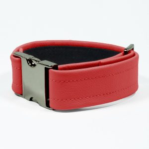 Bicep Strap – Standard Leather – Red - Gun Metal Black Fittings