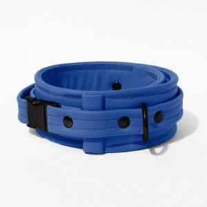 Collar – Standard Leather – Blue - Black Plastic Fittings